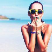 Chava en la playa