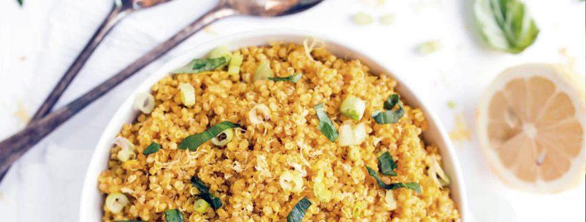 Quinoa con Cúrcuma