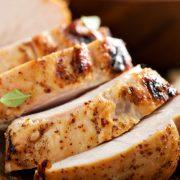 Roasted Turkey Breast with Lemon Rosemary Gravy.