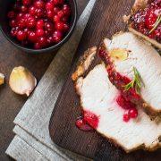 Lomo de Cerdo con Salsa de Arándano y Chipotle